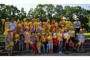 Saulainie kanclerieši Jelgavas pilsētas svētkos