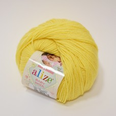 Alize Baby Wool dzija - gaiši dzeltena (50 g, 175 m)