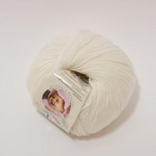 Alize Baby Wool dzija - balta (50 g, 175 m)