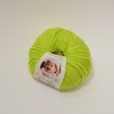 Alize Baby Wool dzija - koši zaļa (50 g, 175 m)