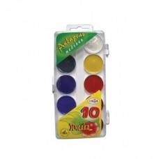 """Akvareļkrāsas """"Gamma"""" (10 krāsas)"""