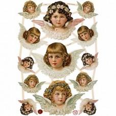 """Dekoratīvie motīvi """"Eņģeļu meitenes"""" (3 loksnes)"""