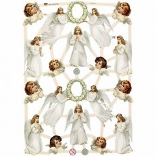 """Dekoratīvie motīvi """"Eņģeļi"""" (3 loksnes)"""
