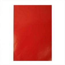 Glancēta papīra komplekts - sarkans (80 g, 25 gb.)