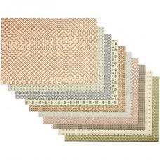 Dažādu dizainu papīrs (50 x 70 cm, 100 g, 10 gb.)