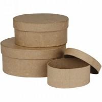 Ovālas formas kastes (3 gb.)