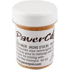 """""""Paverpol"""" pigmenta pulveris/krāsa - dzeltena okera krāsā (40 ml)"""
