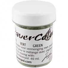 """""""Paverpol"""" pigmenta pulveris/krāsa - zaļš (40 ml)"""