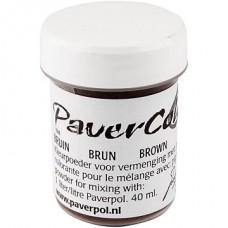 """""""Paverpol"""" pigmenta pulveris/krāsa - brūns (40 ml)"""