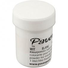 """""""Paverpol"""" pigmenta pulveris/krāsa - balta (40 ml)"""