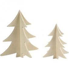 """3D koka dekori """"Eglītes"""" (2 gb.)"""
