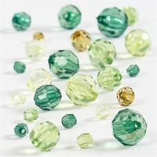 Akrila pērlītes - zaļas (40 g)