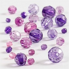 Akrila pērlītes - violetas (40 g)