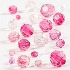 Akrila pērlītes - rozā (40 g)