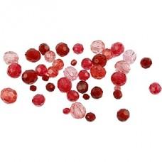 Akrila pērlītes - sarkanas (40 g)