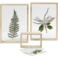 Koka rāmis ar dubulto stiklu