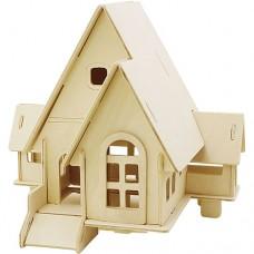"3D koka modelis ""Māja"""