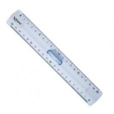 """Lineāls """"MAPED Cristal"""" ar turētāju, caurspīdīgs - 20 cm"""