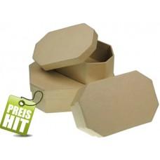 Astoņstūru kartona kastīte (11,5 x 8,5 x 4,5 cm)