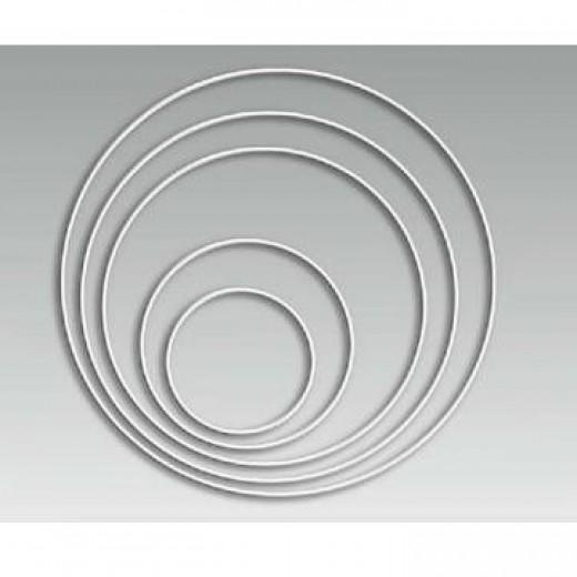 Metāla stieples riņķis (D 20 cm) - Auklas, stieples