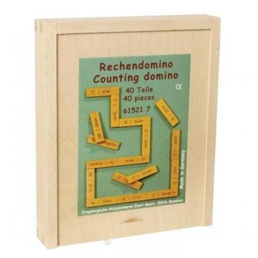 """Domino """"Aritmētika"""" (saskaitīšana un atņemšana) - Montesori materiāli"""