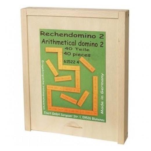 """Domino """"Aritmētika"""" (reizināšana un dalīšana) - Montesori materiāli"""