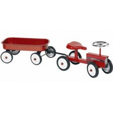 Mini traktors ar piekabi