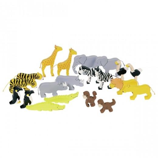 """Koka figūriņas """"Āfrikas dzīvnieki"""""""