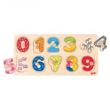 "Koka puzle ar rokturiem ""Skaitļi"""
