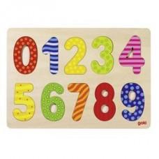 """Koka puzle """"Cipari no 0 līdz 9"""""""