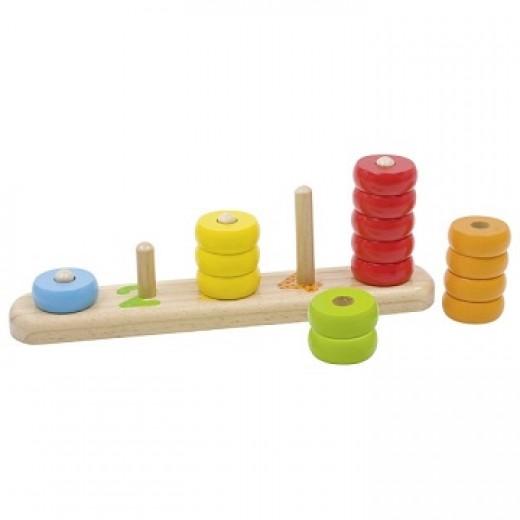 """Rotaļlieta """"Krāsas un skaitļi II"""" - Skaitīkļi, skaitīšanas materiāls, klasifikācija"""