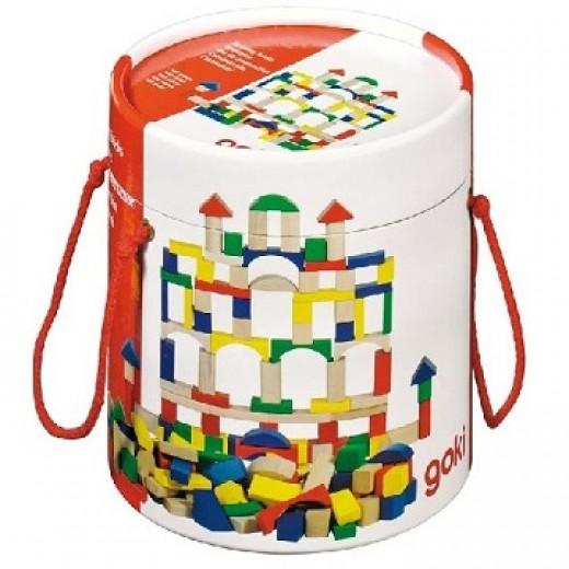 Koka rotaļu klūcīši (100 gb.) - Koka