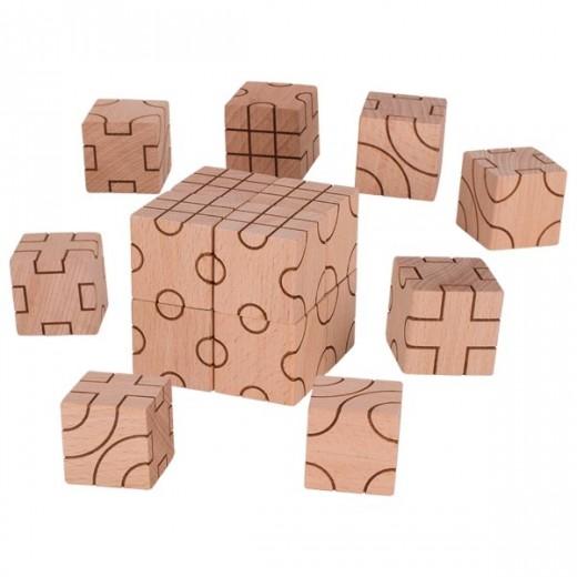 Koka celtniecības kluči ar rakstu (16 gb)