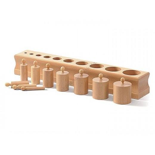 Koka cilindri 2 - Montesori materiāli