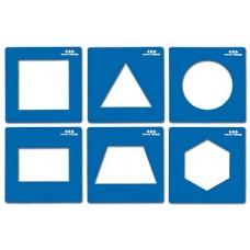 """Formu veidnes """"Ģeometriskās figūras"""" (15 x 15 cm)"""