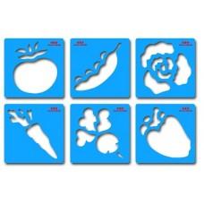 "Formu veidnes ""Dārzeņi"" (15 x 15 cm)"