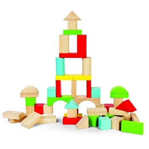 """Koka ģeometriskās figūras """"Būvniecība 2"""" - Koka"""