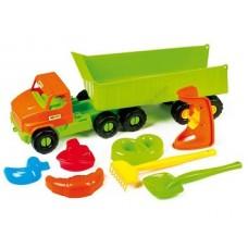 Rotaļu kravas mašīna ar rotaļlietām (68 x 22,5 x 18,5 cm)