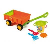 Piekabe ar smilšu kastes rotaļlietām (49 x 25 x 31 cm)