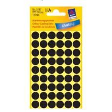 Apaļas uzlīmes, melnas(diam. 12 mm)